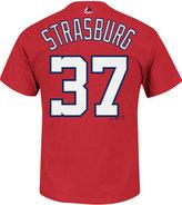 Majestic Men's Stephen Strasburg Washington Nationals Official Player T-Shirt