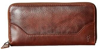 Frye Melissa Zip Wallet (Cognac) Wallet