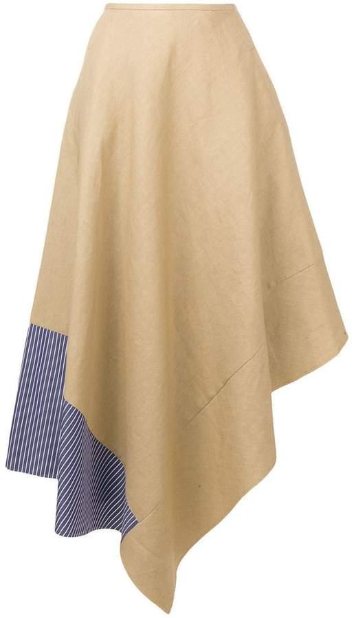 asymmetric maxi skirt