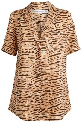 Faithfull The Brand Charlita Tiger Shirt Dress
