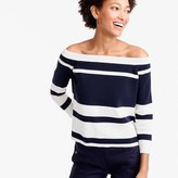 J.Crew Off-the-shoulder striped sweater