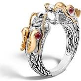 John Hardy 'Legends' Diamond & Ruby Ring