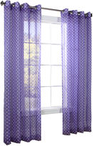 Asstd National Brand Dots Grommet-Top Sheer Panel