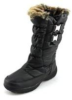 Weatherproof Becky Women Round Toe Canvas Black Snow Boot.