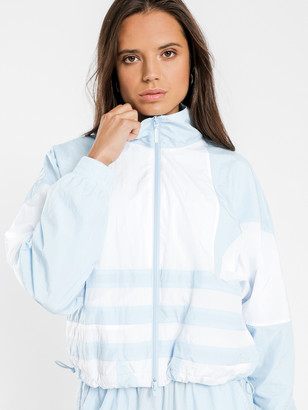 adidas Large Logo Track Top in Clear Sky White