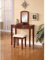 Linon Nancy Vanity Table, Stool & Mirror