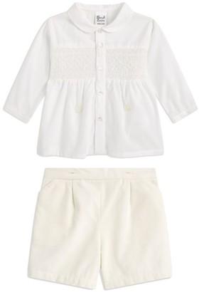 Sarah Louise Christening Shirt & Shorts Set