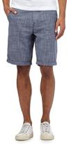 Red Herring Blue Crosshatch Print Shorts