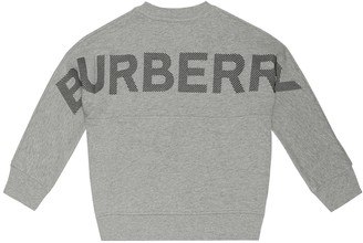 Burberry Logo cotton-jersey sweatshirt