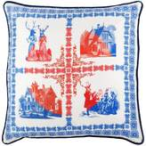 Bivain - Folk Large Silk Cushion