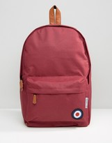 Lambretta Backpack with Target in Burgandy