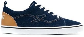 Trussardi Jeans denim plimsole sneakers