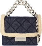 Stella McCartney Mini Beckett sherling denim (Blue) shoulder bag
