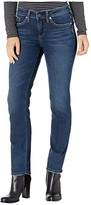 Silver Jeans Co. Elyse Mid-Rise Curvy Fit Slim Leg Jeans L03333SDK472 (Indigo) Women's Jeans