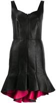 Alexander McQueen peplum hem leather dress