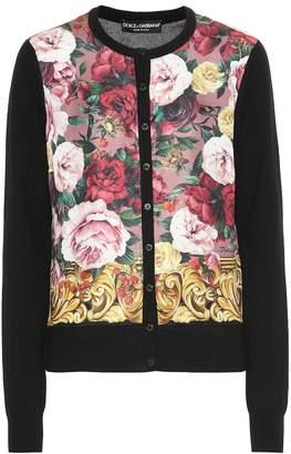 Dolce & Gabbana Floral cashmere and silk cardigan