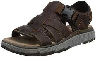 Clarks Men's Un Trek Cove Sling Back Sandals, Brown (Dark Tan Leather