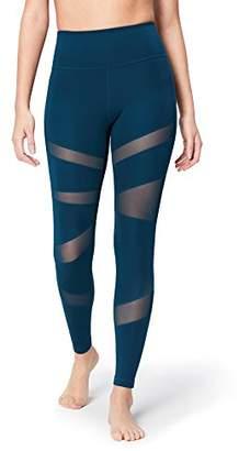 Core 10 Women's Icon Series - The Warrior Mesh Leggings, Blue (), X-Large