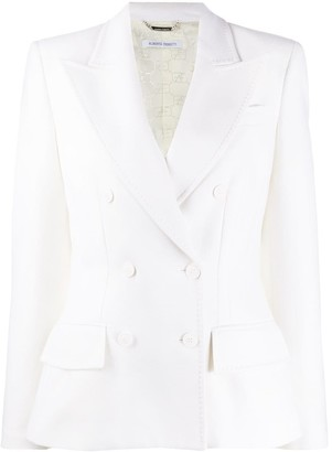 Alberta Ferretti Long-Sleeved Double Breasted Blazer