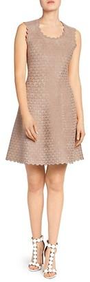 Alaia Moonlight Sleeveless Short Jacquard A-Line Dress