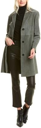Weekend Max Mara Virtus Leather Trench Coat