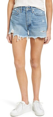 A Gold E Parker Distressed Denim Shorts