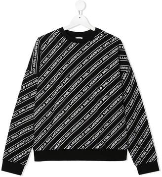 Karl Lagerfeld Paris TEEN logo print sweatshirt