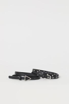 H&M 2-pack Waist Belts - Black