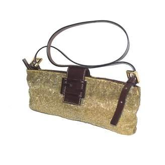 Fendi Baguette Gold Glitter Handbags