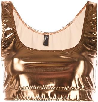 Lisa Marie Fernandez metallic vest