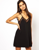 Oh My Love Cami Slip Dress with Lace Inserts