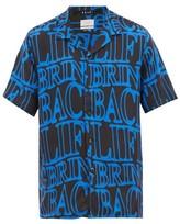 Ksubi Bring Back Printed-twill Shirt - Mens - Black Blue