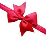 Mikey Store Baby Headband Toddler Lace Bow Flower Hair Band Accessories Headwear (Red)