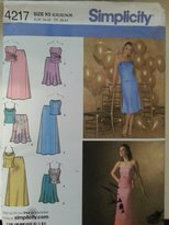 Simplicity 4217 Misses Special Occasion Top & Skirt Size K5 (8-10-12-14-16)