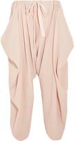 Stella McCartney Crinkled-cotton Pants - Sand