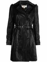 Thumbnail for your product : MICHAEL Michael Kors Faux-Leather Puff-Sleeve Coat