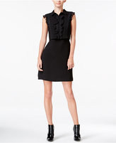 Maison Jules Ruffled Lace-Inset Popover Dress, Only at Macy's