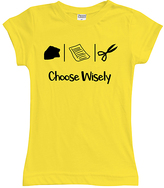 Urban Smalls Yellow 'Choose Wisely' Fitted Tee - Toddler & Girls