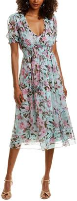 Diane von Furstenberg Palmer Silk Midi Dress
