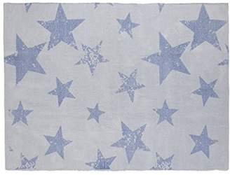 Lorena Canals Vintage Star Rug and Cushion (Ocean)