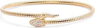 Argento Vivo Pave Snake Coil Wrap Bracelet