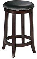"Acme Oak Finish Wood 29""H Swivel Bar Stool Counter Chair (Set of 2)"