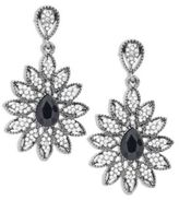 Cara Floral Studded Drop Earrings