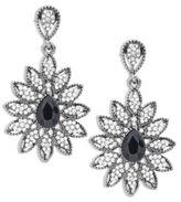 Cara Floral Studded Drop Earrings