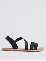M&S Collection Leather Asymmetric Sandals