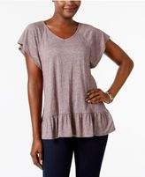 Style&Co. Style & Co Ruffled Peplum Top, Created for Macy's