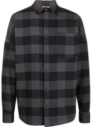 Palm Angels Logo Print Checked Shirt