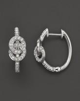 Bloomingdale's Diamond Interlocking Disk Hoop Earrings in 14K White Gold, .40 ct. t.w.