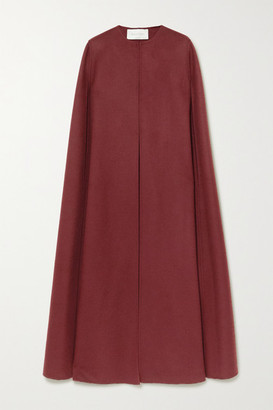 Valentino Wool And Cashmere-blend Cape - Red