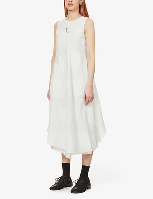 Song For The Mute Sleeveless cotton-blend midi dress